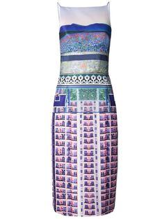 Get Mary Katrantzou dress as seen on Michelle Dockery @Vanity Fair event |
