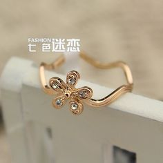 Ring gift of flowers Ring Korean version of the influx of female jewelry wholesale rings,shop fashion jewelry at Costwe.com