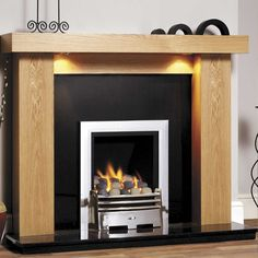 GB Mantels Kensington Clear Oak Fireplace Suite