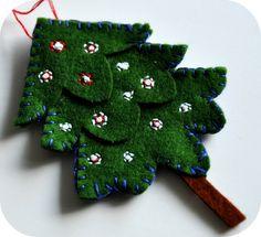 Felt Tree Ornament by Rosina Huber, via Flickr