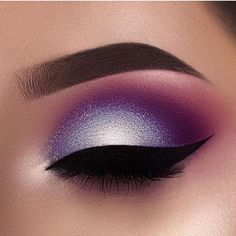 #smoky #silver #purple #eye #eyeliner