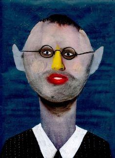 Guim Tió Zarraluki Matias - 2013 Mixed media on magazine x cm Human Soul, Portrait Illustration, Human Condition, Woman Face, Fine Art Paper, Watercolor Paintings, Mixed Media, Sculpture, Drawings