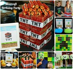 Minecraft Birthday Party {Made by a Princess Parties in Style}
