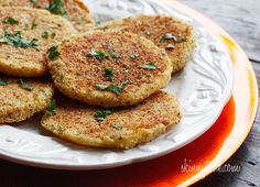 Mashed Potato Patties (leftover mashed potatoes) add parmesan, eggs and breadcrumbs