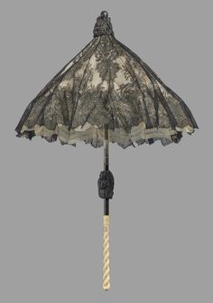 1870's French parasol with black Chantilly lace.