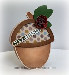 RETARTE 63 ANYTHING GOES -  - Digital Cutting File, Acorn, The Cutting Cafe, Cricut Explore, Acorn SVG File, SVG File, Stampartpapel Challenge. Shaker Cards