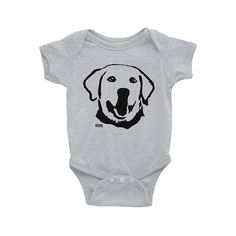 Baby Clothes With Labrador Retriever Print Baby Bodysuit Gender Neutral Baby Girl Gift Baby Boy Clot Baby Outfits, White Labrador, American Apparel Shorts, Gender Neutral Baby Clothes, Baby Girl Gifts, Baby Prints, Dog Gifts, Baby Bodysuit, Baby Wearing