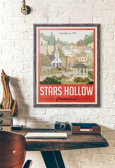 Estrellas huecas cartel Poster Vintage Travel por WindowShopGal