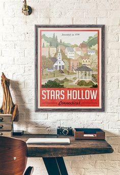 Estrellas huecas cartel Poster Vintage Travel por WindowShopGal