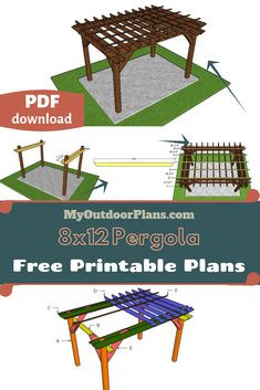 design plans free Pergola Plans Free plans for building this pergola. You can build this pergola with my step by step diagrams and instructions. You can Print the plans or save them as a PDF file, for FREE. Pergola Swing, Metal Pergola, Cheap Pergola, Backyard Pergola, Pergola Shade, Pergola Kits, Gazebo, Pergola Ideas, Corner Pergola