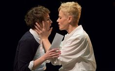 Katie West as Ophelia and Maxine Peake as Hamlet at the Royal Exchange Theatre