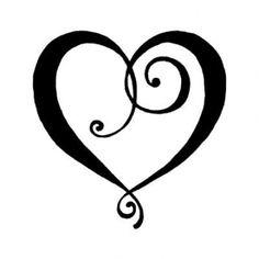 Tampon bois - Artemio - Petit Coeur stylisé