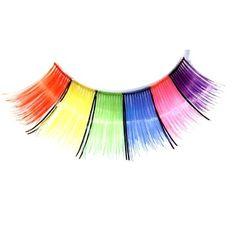 Rainbow false eyelashes
