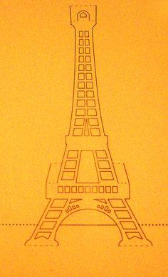 What The Ladies Want: TUTORIAL: BIGLIETTO KIRIGAMI TOUR EIFFEL (Tour Eiffel Kirigami Card)