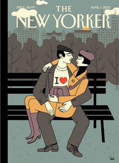 """Cover of the April 1, 2013 issue -- Get the story behind this week's cover, """"I Love,"""" plus see a slideshow of Art Deco New Yorker covers from the 1920s: http://nyr.kr/1027v7Y"""