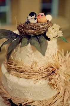 I think I really really like this totally goes to love birds theme Autumn is here! Snuggle in and get inspired by these fall weddings | Offbeat Bride