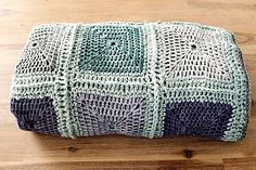 pigtails: Raw Rustic Cotton and Bamboo Throw! Crochet square blanket in beautiful shades of blue Love Crochet, Knit Crochet, Crochet Square Blanket, Crochet Blankets, Manta Crochet, Cotton Throws, Wet Felting, Crochet Projects, Diy Projects