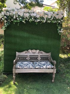 Grass silk flower wall for hire in South Africa Photo Booth Backdrop, Flower Wall, Outdoor Furniture, Outdoor Decor, Silk Flowers, South Africa, Grass, Backdrops, Balloons