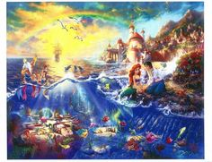 Disney Art & Collectibles - Thomas Kinkade Studios portfolio of Disney artwork captures the beauty of Disney fans' favorite movies and theme parks. Each Thomas Kinkade Studios Disney movie Disney Magic, Disney Pixar, Disney Animation, Disney E Dreamworks, Disney Amor, Gif Disney, Disney Films, Disney Love, Disney Characters