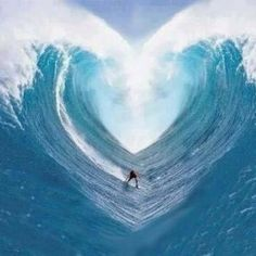 Awesome Ocean Blue Heart Wave! *