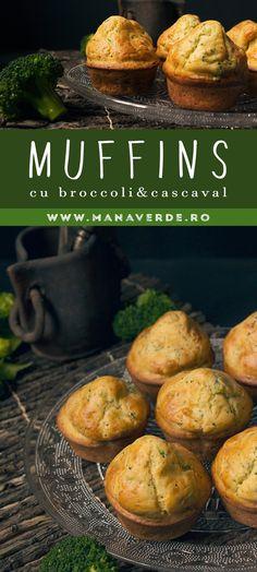 Muffins cu broccoli si cascaval