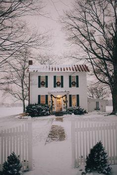snowy dream house! // photo by http://AshleyDru.com