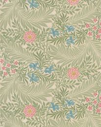 Larkspur Olive/Lilac från William Morris & Co