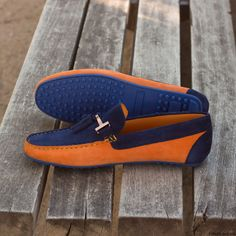 Handcrafted Custom Made Shoes From Robert August. Create your own custom designed shoes. J Shoes, Mens Shoes Boots, Blue Shoes, Mens Suede Shoes, Dress Shoes, Simple Shoes, Casual Shoes, Mens Designer Loafers, Mens Fashion Shoes