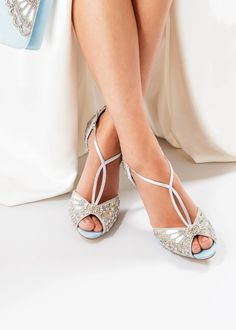 These divine sandals are surely your perfect, 'Something blue'... Best Bridal Shoes, Bridal Sandals, Blue Wedding Shoes, Wedding Heels, Sophia Webster, Marchesa, Manolo Blahnik, Stilettos, Jimmy Choo