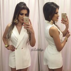 image Classy Outfits, Stylish Outfits, Fashion Outfits, Glamour Fashion, Look Con Short, Romper Outfit, African Wear, How To Make Hair, Street Chic