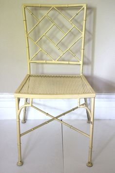 Vintage Metal Faux Bamboo Chair $175