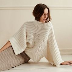Knitting And Crochet Knitwear Fashion, Knit Fashion, Womens Fashion, Mode Crochet, Knit Crochet, Mode Inspiration, Crochet Clothes, Cashmere Sweaters, Hand Knitting