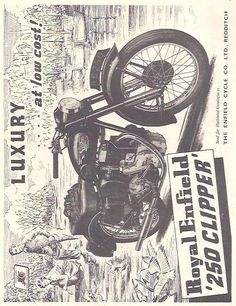 Manufacturer Royal Enfield Detail 250 Clipper ndash Original Advert Size A4 Colour B W Year 1954 Reference