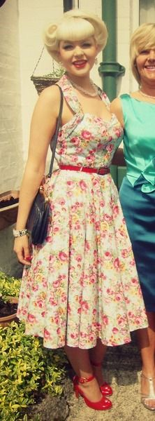 Cute and Vintage... Like this as a summer vintage dress... I love the red shoes!