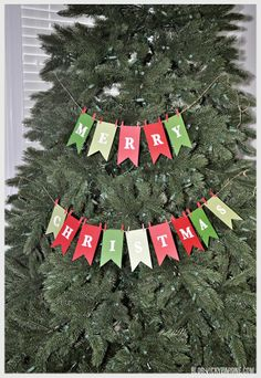 DIY Garland! Could even write just Happy Holidays on it too.