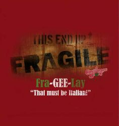 This End Up - FRAGILE T-Shirt - Red