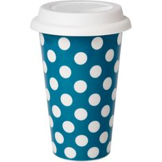 Travel Mugs - Polka Dot Ceramic Cup - Paper Source ($1-20) - Svpply