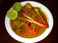Crab curry (Sri Lankan style) - This is a recipe I've created and tweaked over many years. Its main influence comes from Sri Lanka where I spent 5 weeks in 2004, while there devoured plate loads of this delicious curry.     Crab curry is the quintessential food for sharing around a table, as crabs can only be eaten one way; with the fingers. Enjoy!