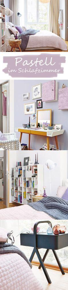 Zartes Pastell, charmante Möbel und intelligente Stauraumideen verwandeln ein Schlafzimmer in einen Rückzugsort zum Träumen. ALLE EINRICHTUNGS-TIPPS >>>