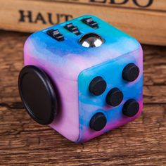 Colorful Fidget Cube Special Camouflage Starry Sky Color Spinner Hand Clickable Ball Puzzles Magic Toys for Kids