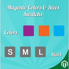 Colors & Sizes Swatches Extension for your Magento Online Store to show swatches for Products Colours and Sizes