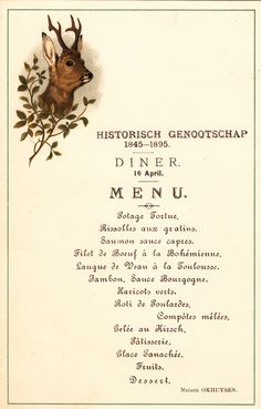 Menu, 16-04-1895 #Booktower