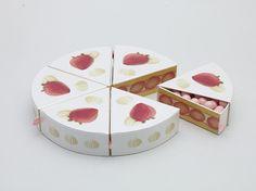 Momento 'Cor de rosa'! Embalagem de doces japoneses com um toque doce de minimalismo.