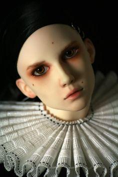 Dollshe Bernard as a Pierrot