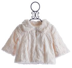 Peace of Cake Ivory Trapeze Jacket for Girls with Sequins $39.00