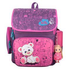 Russia Style Children School Bags Waterproof Orthopedic Backpack Cute Bear Beautiful Princess Girls Backpacks Kid Bag