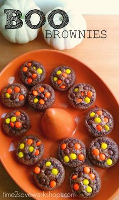 Boo Brownie Cupcakes