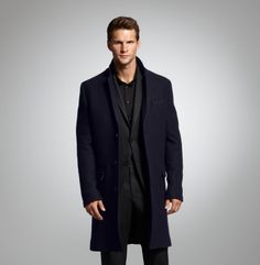 Car Coat With Sweater Trim. Kenneth Cole Collection.