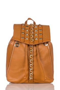 absolutely FABULOUS BAG – Expensive Looking – Chain Trim Embellished Rucksack.. – EDSF!