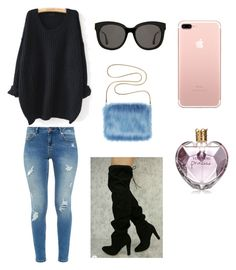 """""""Untitled #100"""" by vintage6739 on Polyvore featuring WithChic, Ted Baker, Gentle Monster and Vera Wang"""